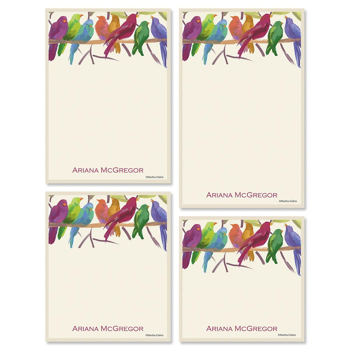 Flocked Together Notepad Set