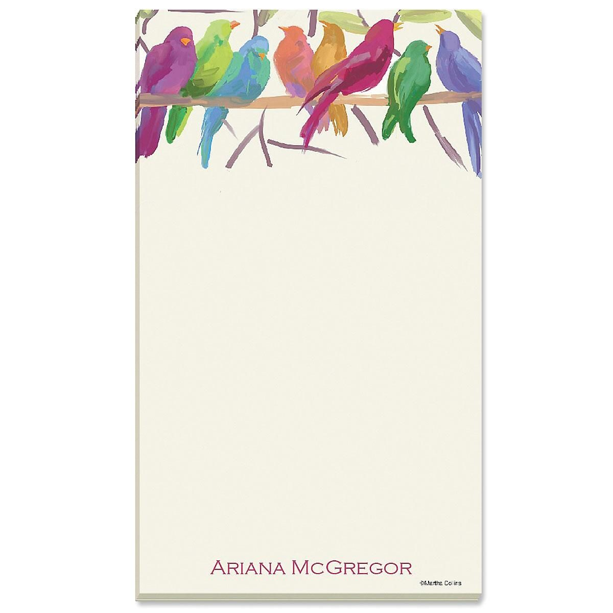 Flocked Together Personalized Notepad Set