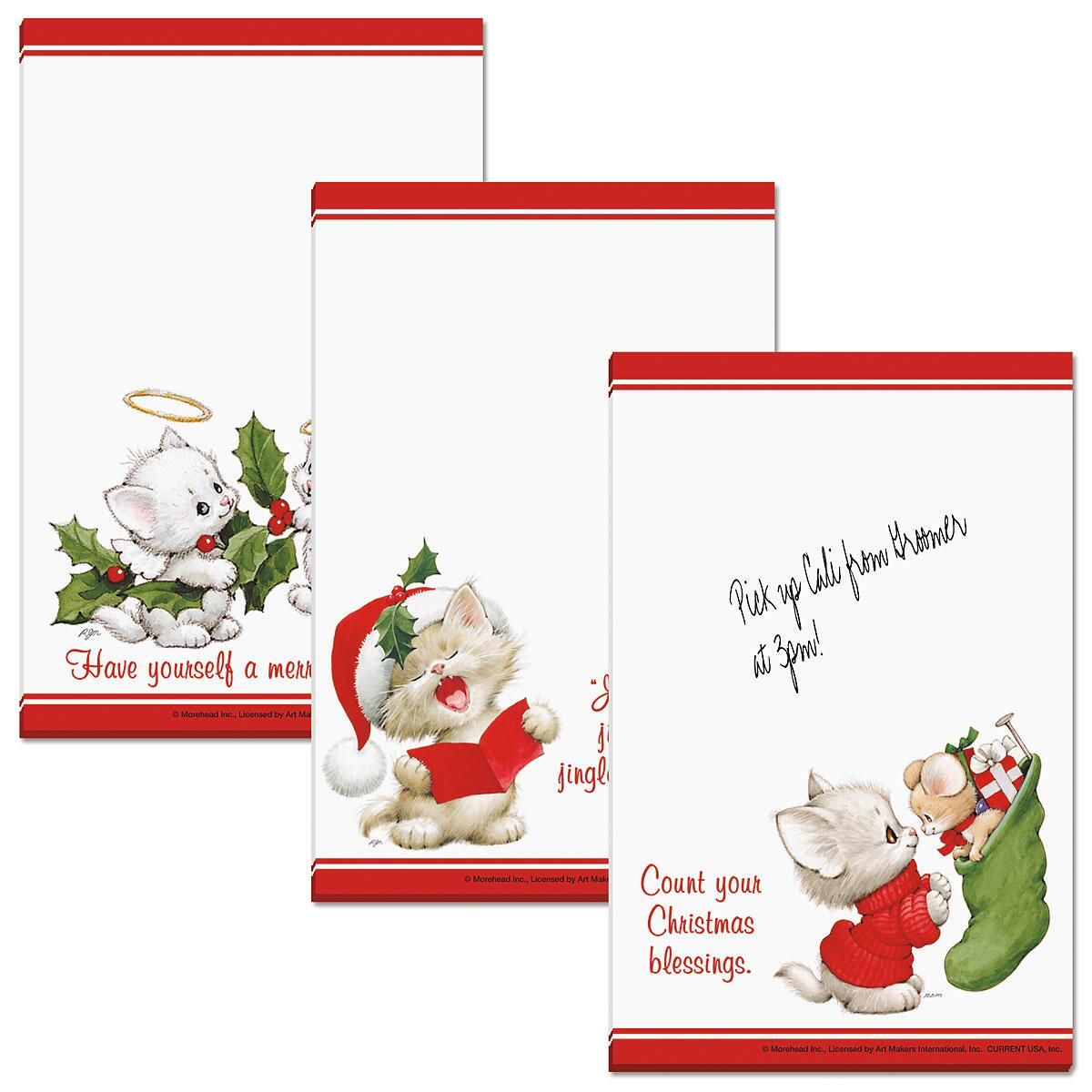 Christmas Cats Memo Pads