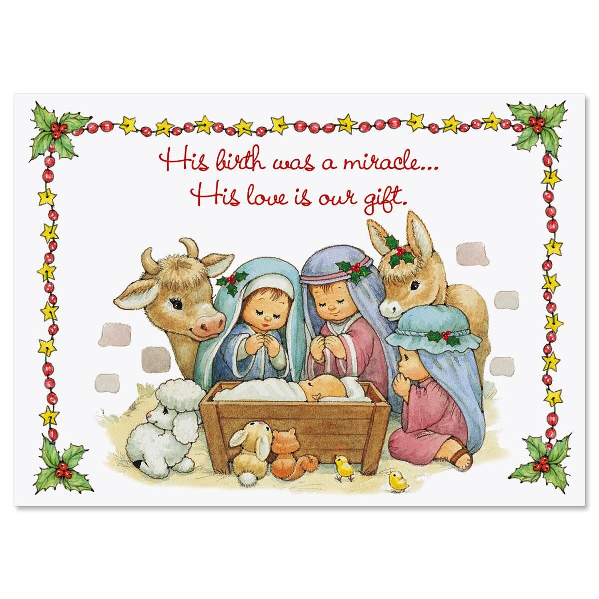 His Love Is Our Gift Christmas Religious Greeting Cards