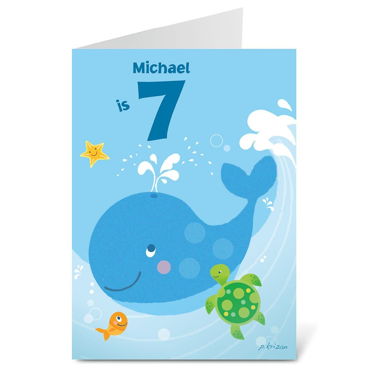 Birthday Whale Create-A-Card