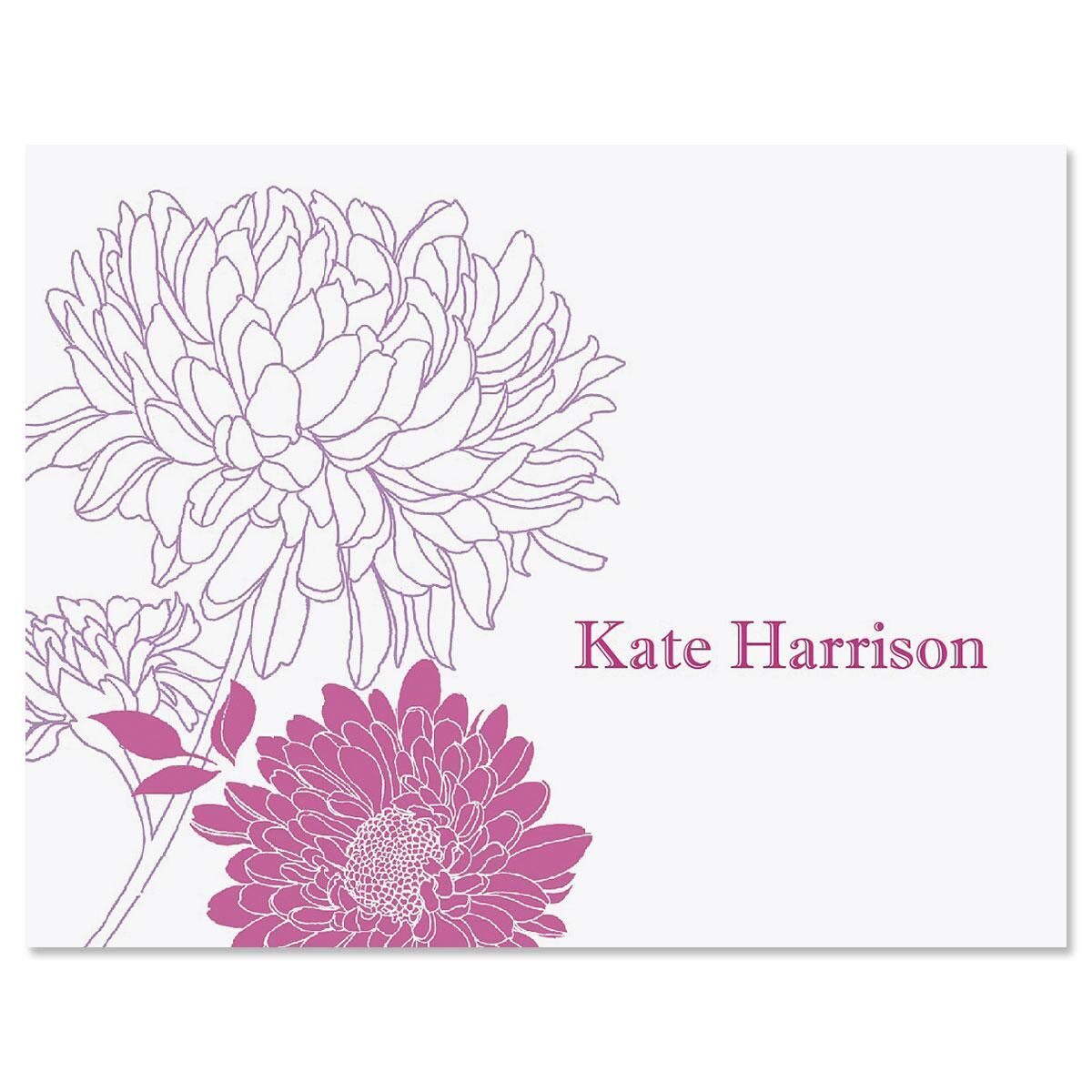 Flora Personalized Note Cards