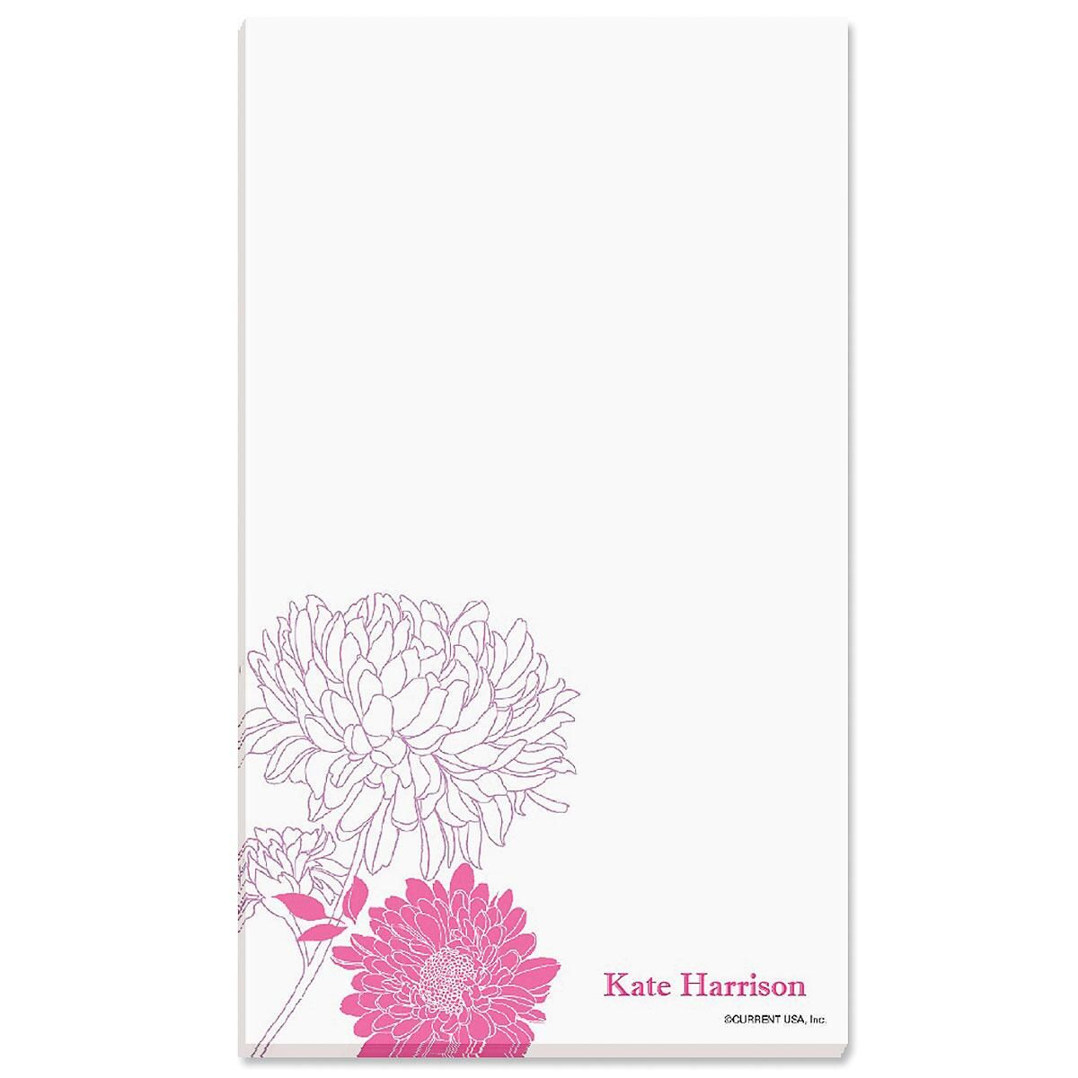 Flora Personalized Notepads
