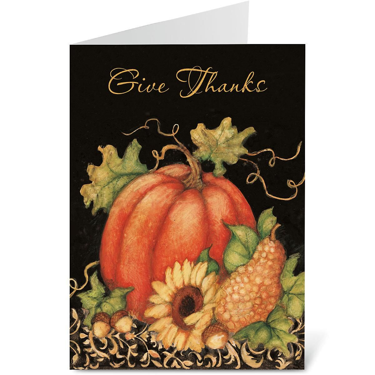 Pumpkin Harvest Cards