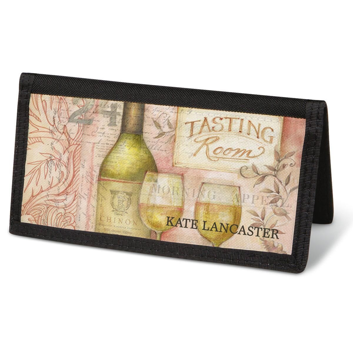 Wine Cellar Checkbook Cover - Personalized