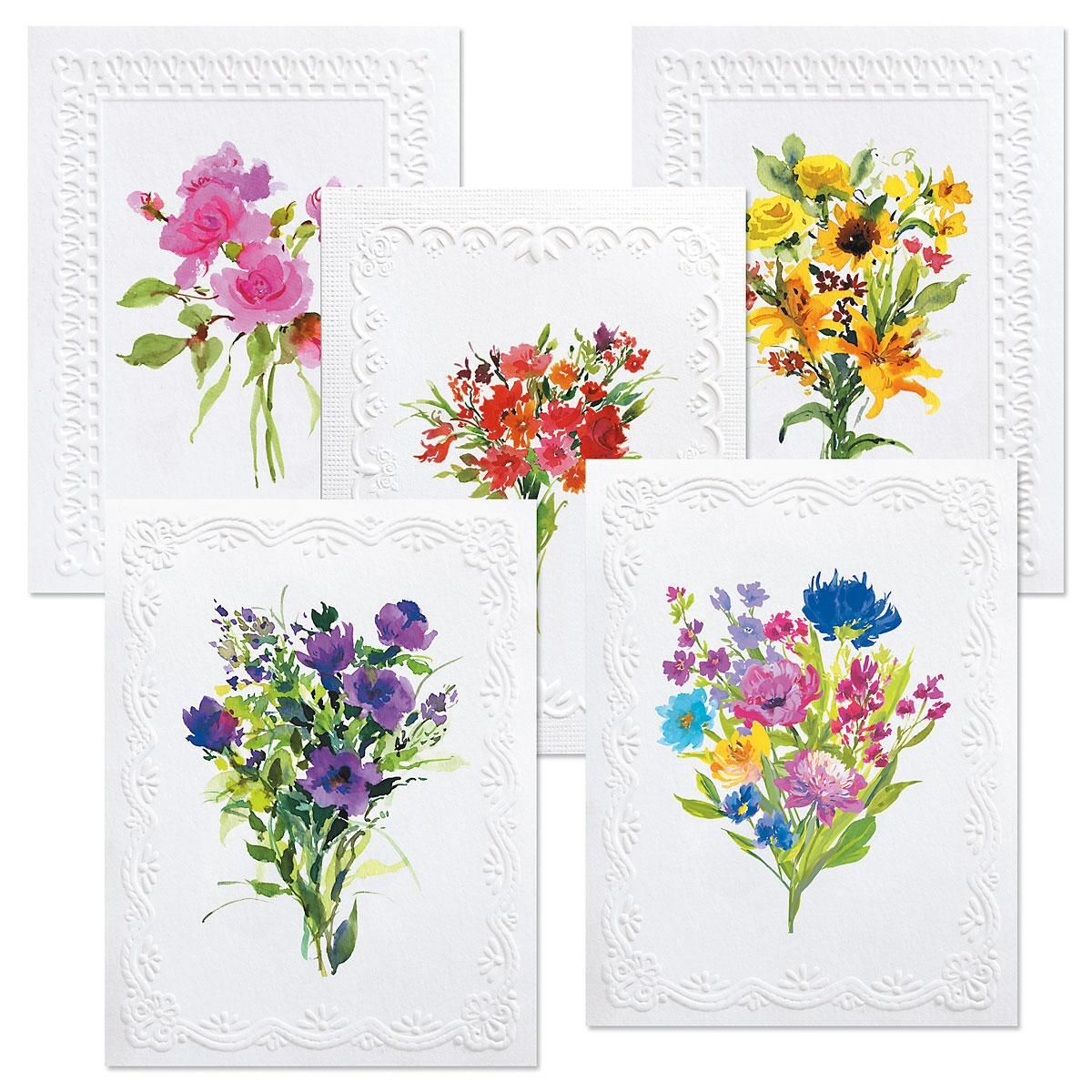 Deluxe Watercolor Note Cards Value Pack