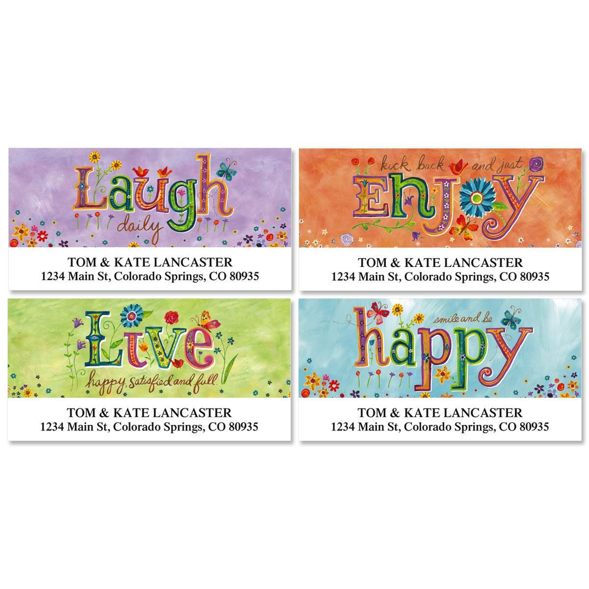 Happy Thoughts Deluxe Address Labels