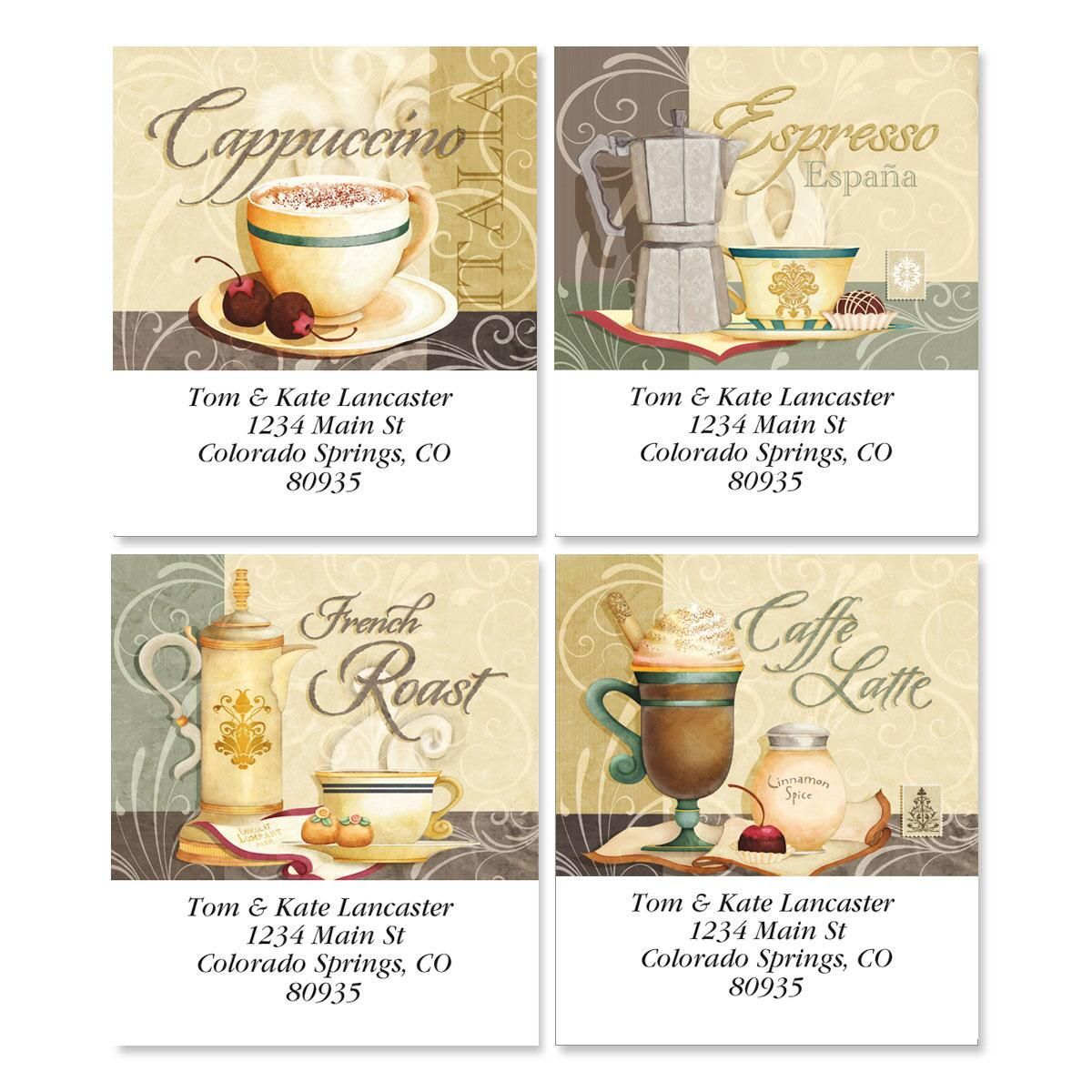 Coffee Talk Address Labels