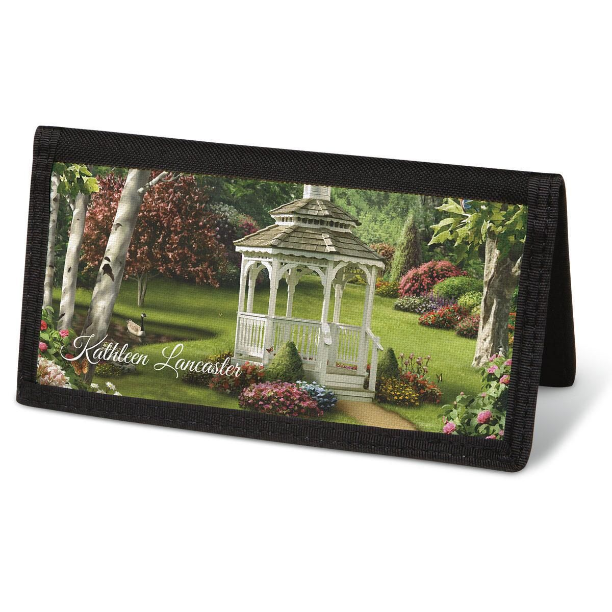 Peaceful Moments Checkbook Cover - Personalized