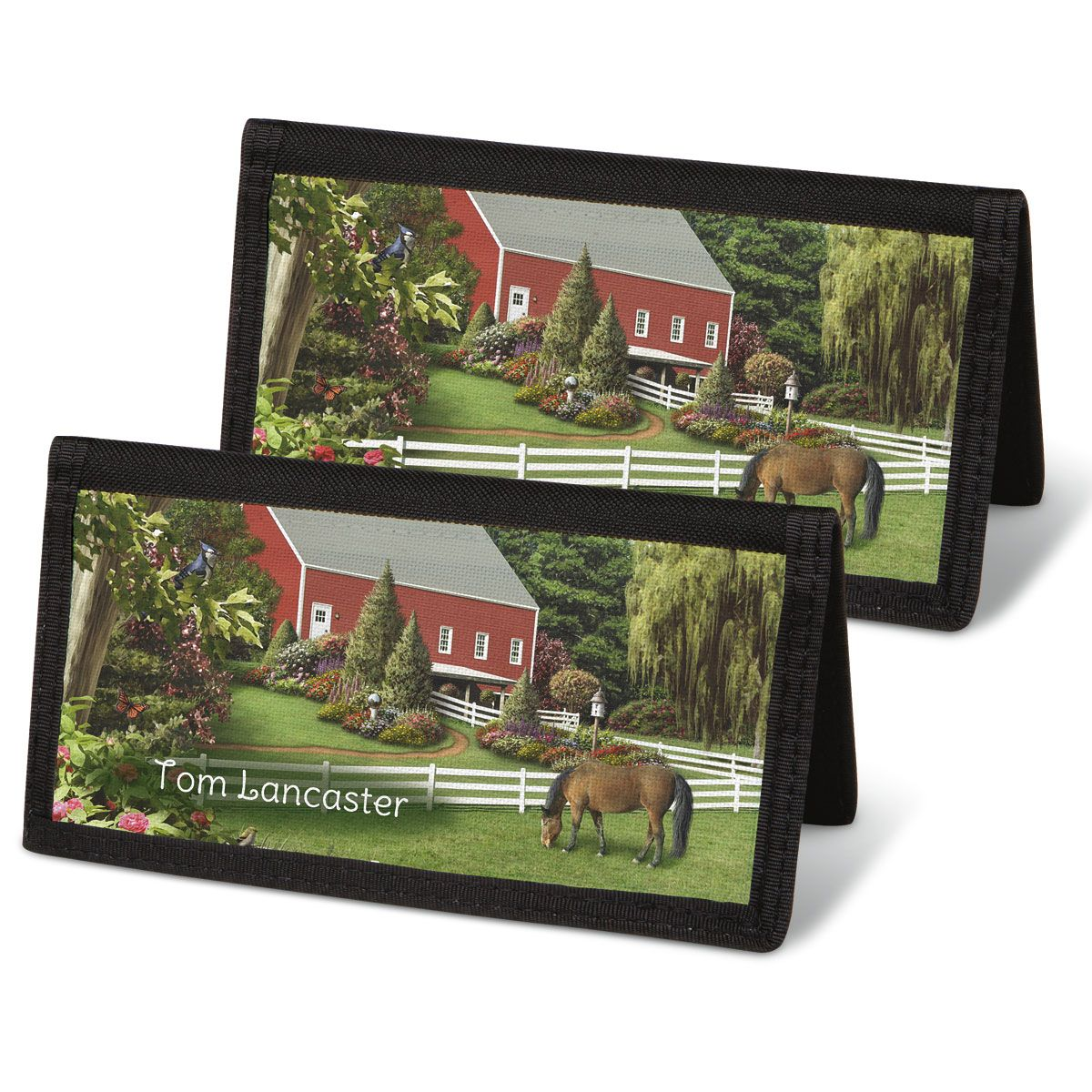 Country Life  Checkbook Covers