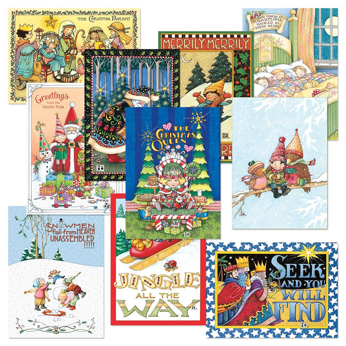 mary engelbreit christmas cards value pack