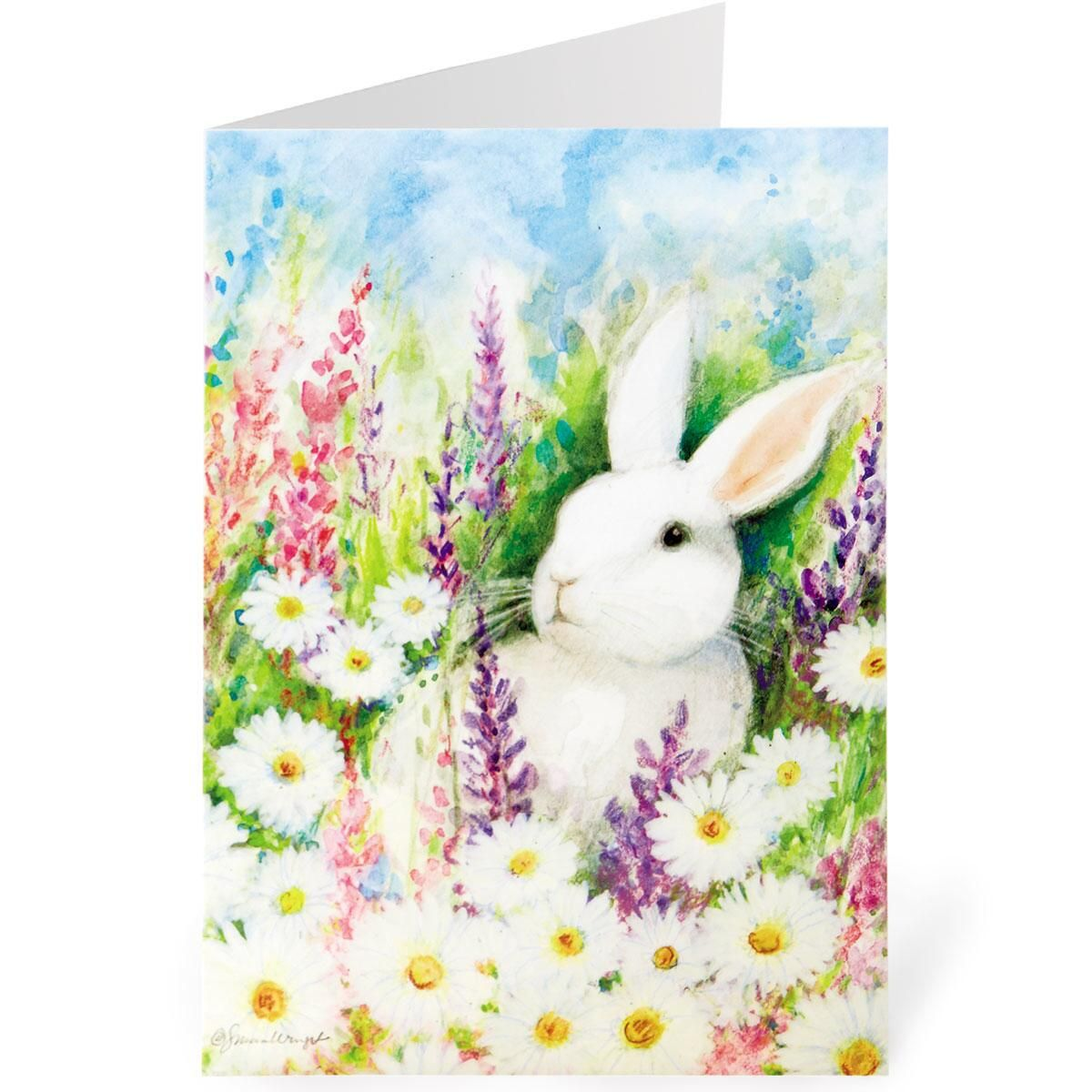 Wildflower Bunny Easter Cards