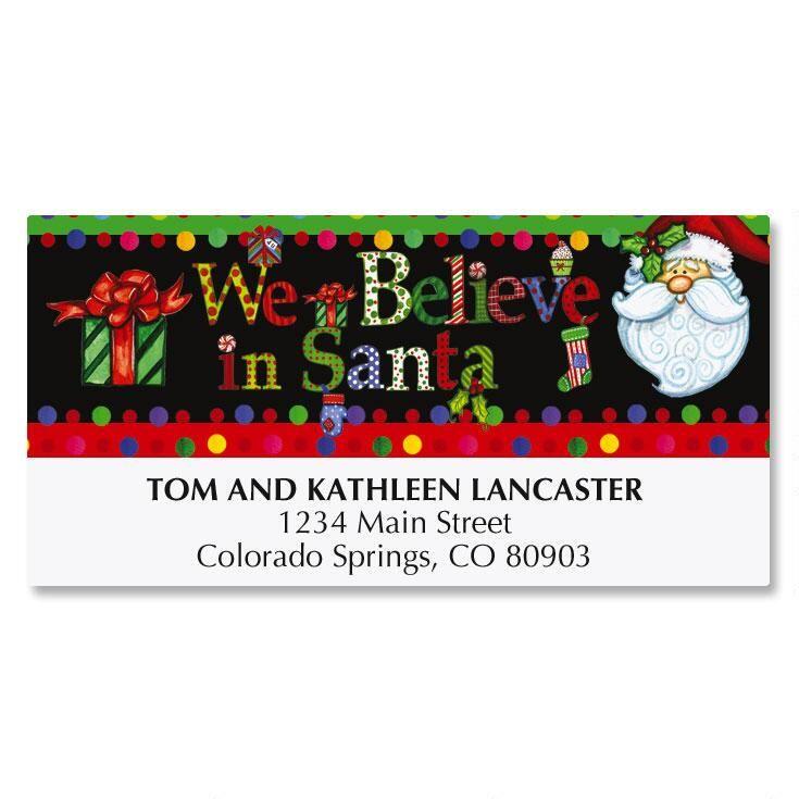 We Believe In Santa Deluxe Address Labels