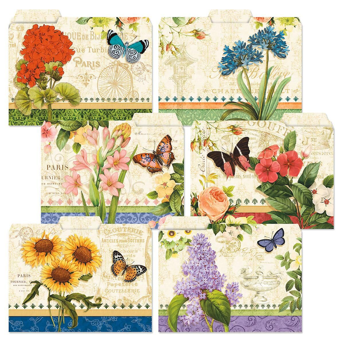 Grand Fleur File Folders