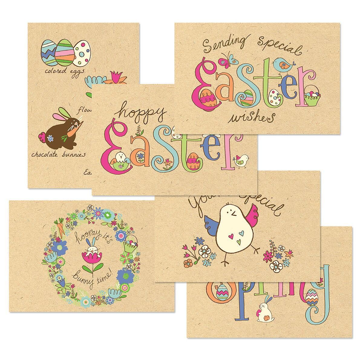 Egg-Citing Kraft Easter Cards Value Pack