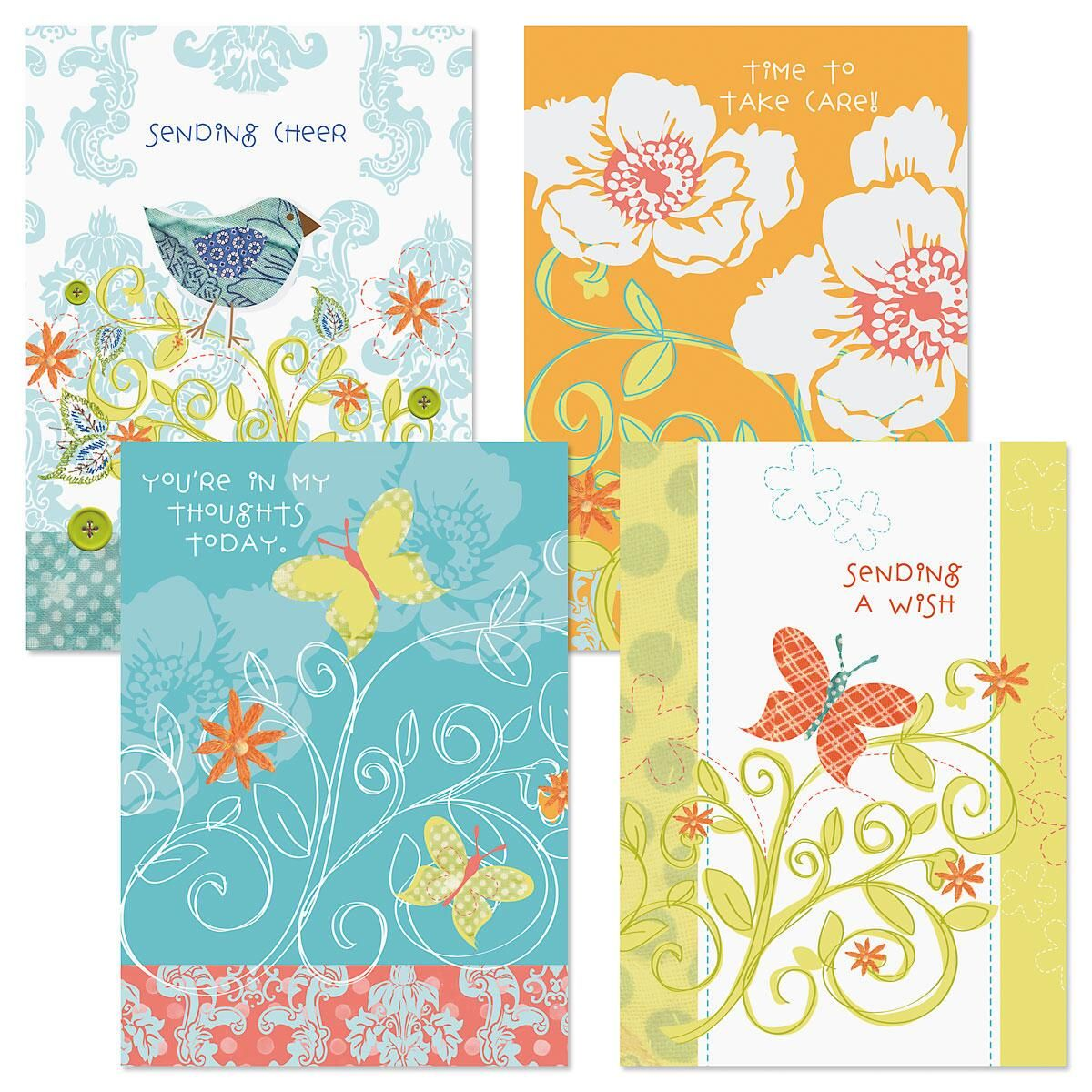 Cottage Get Well Cards and Seals