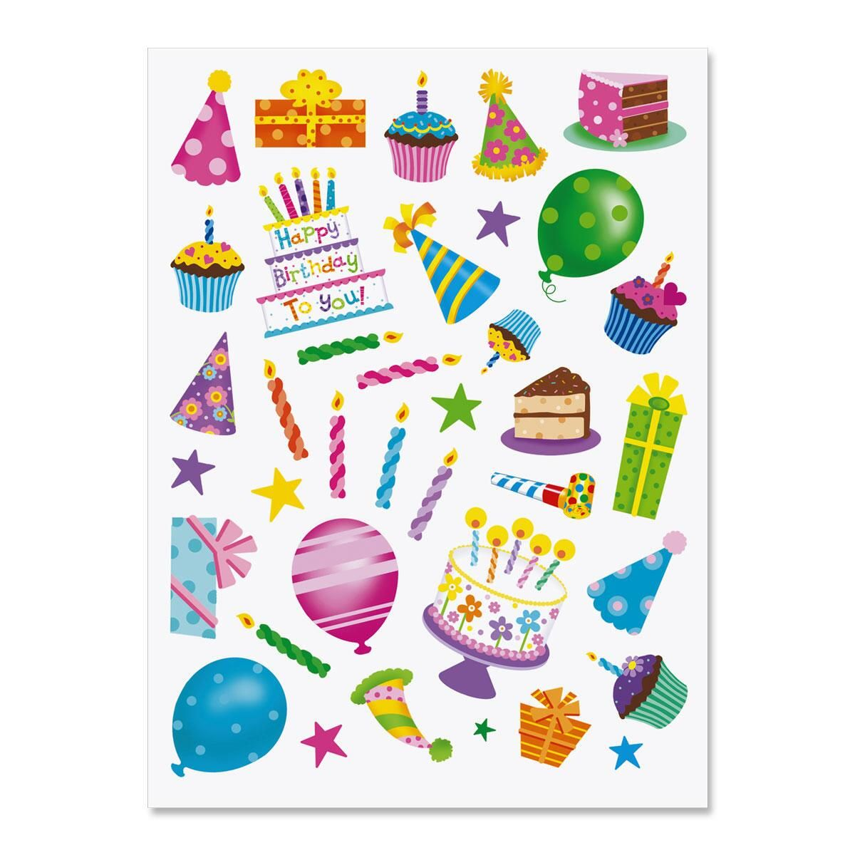 Birthday Celebration Stickers - BOGO