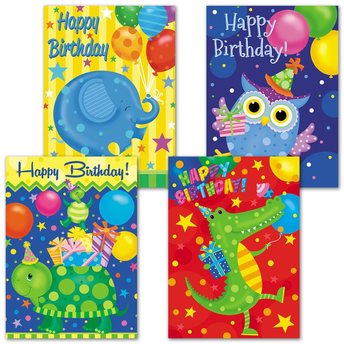 Bright Celebration Birthday Cards