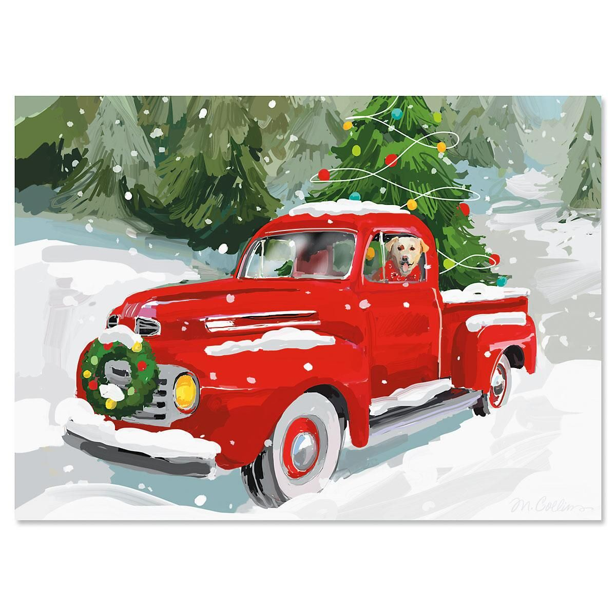 Red Truck Christmas Cards | Current Catalog
