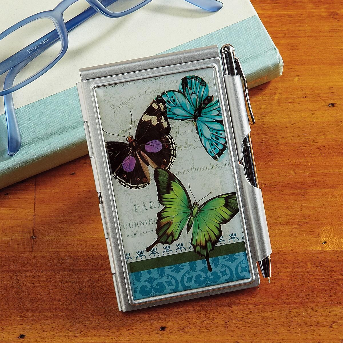 Butterflies Notepad & Pen Set