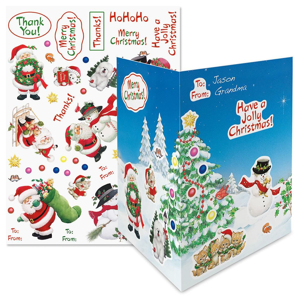 Santa & Friends Make-A-Card