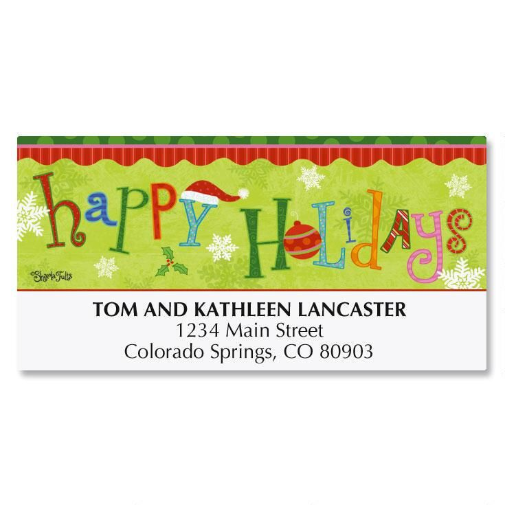 Happy Holidays Deluxe Address Labels