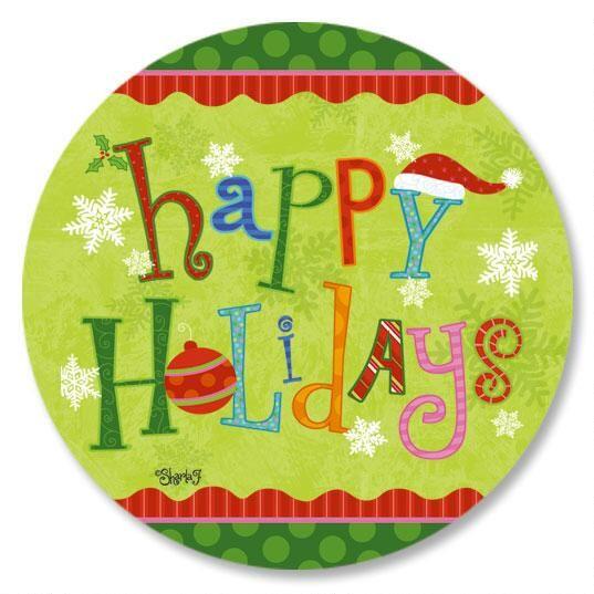 Happy Holidays Envelope Sticker Seals