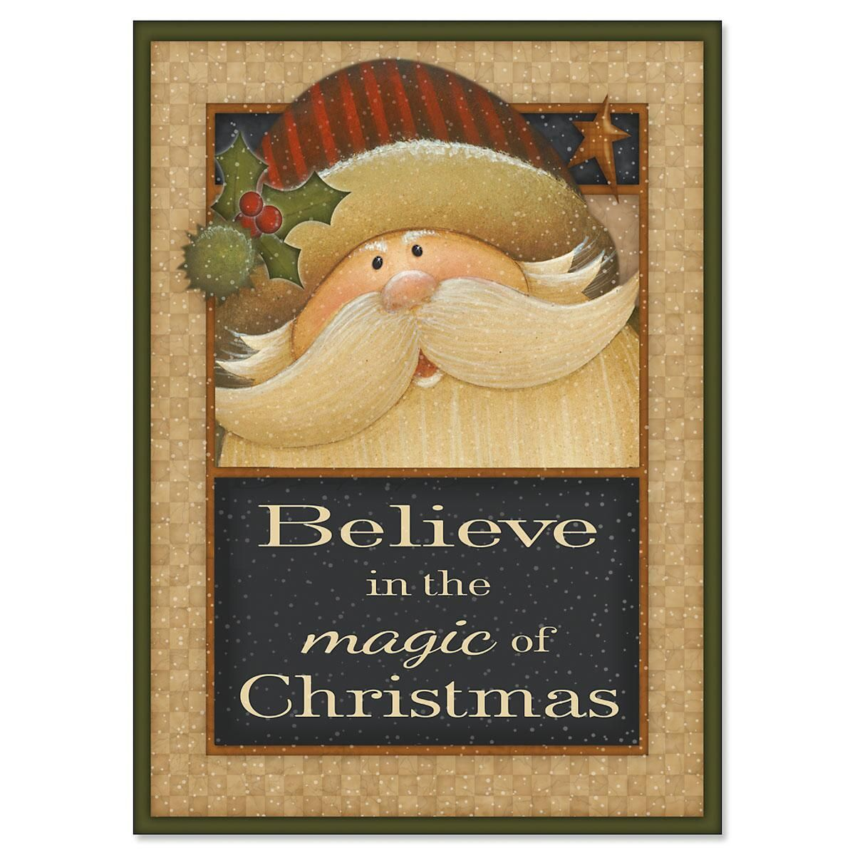 Santa Believe Christmas Cards