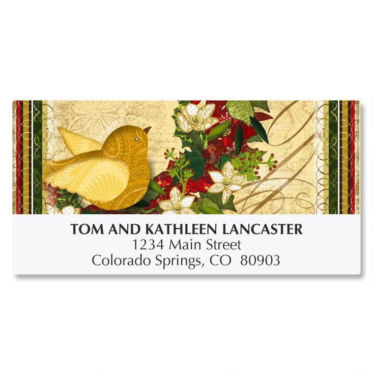 Boughs of Holly Deluxe Address Labels