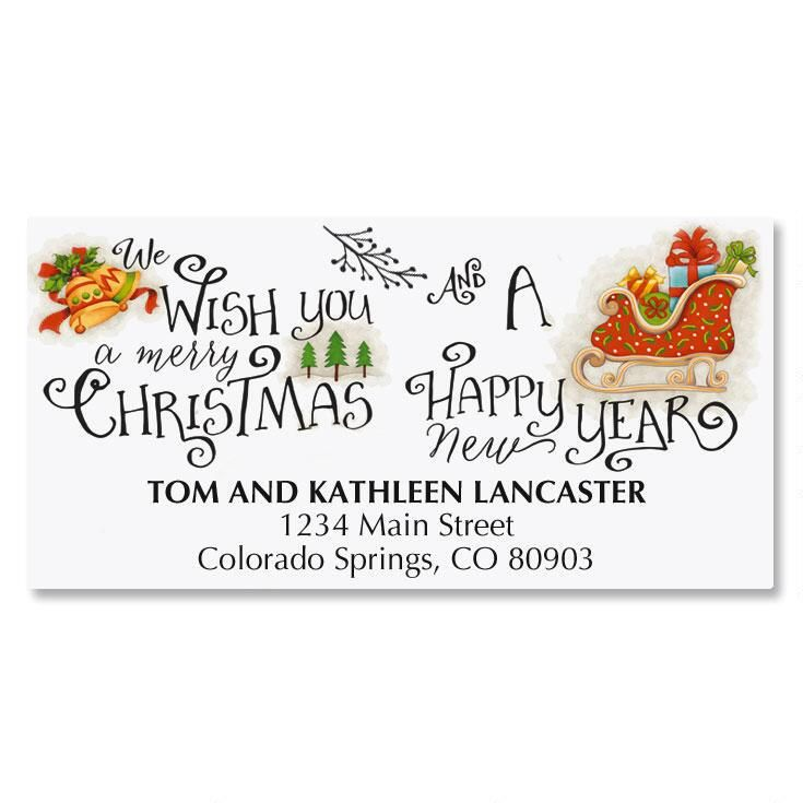 Christmas Cheer Address Labels