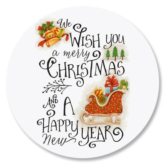 Christmas Cheer Envelope Sticker Seals