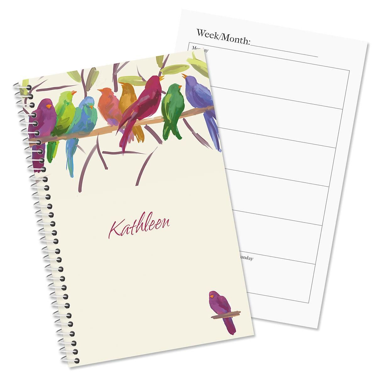 Flocked Together Personalized Weekly Planner