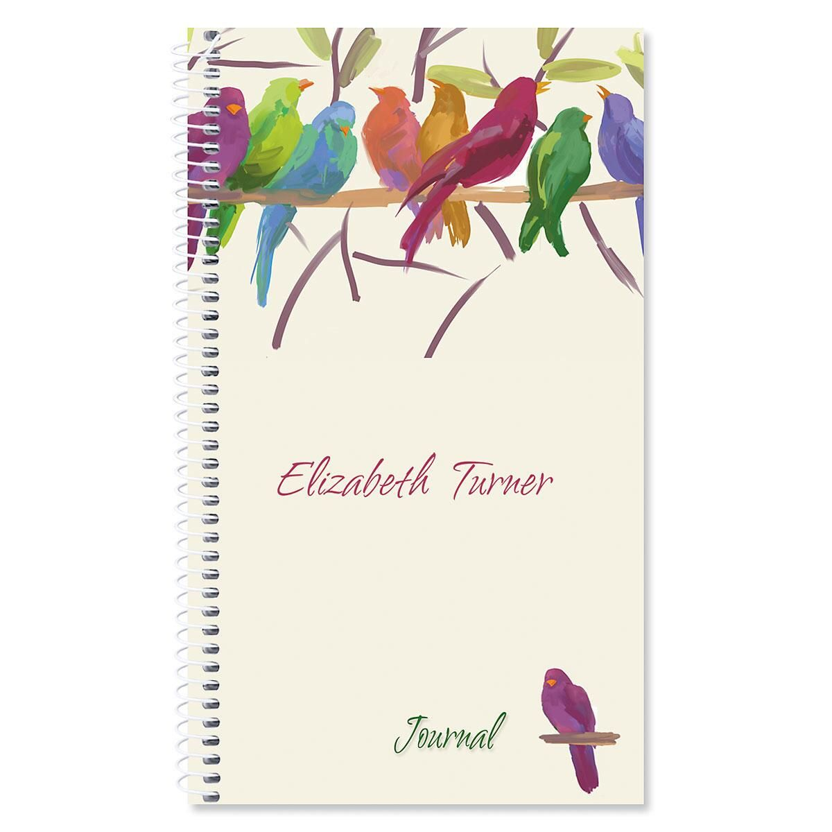Flocked Together Personalized Journal