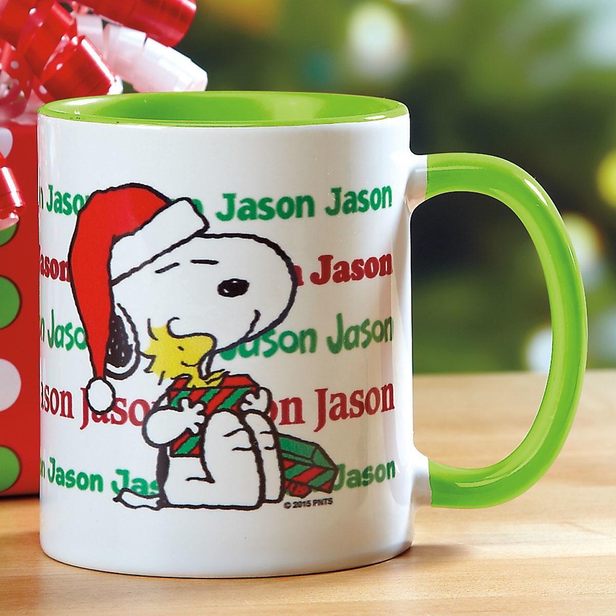 PEANUTS® Christmas Name Mug