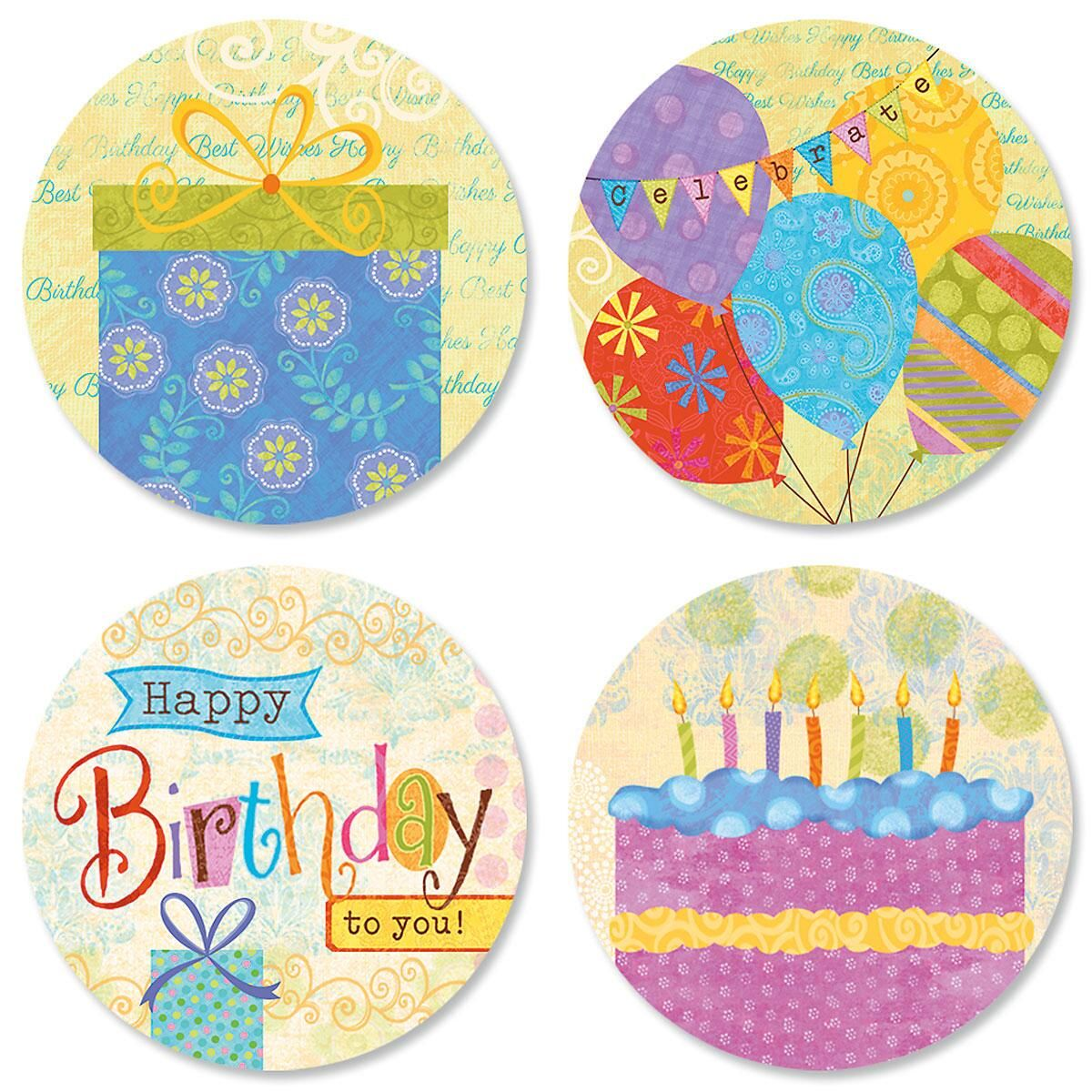 Birthday Banners Seals (4 Designs)