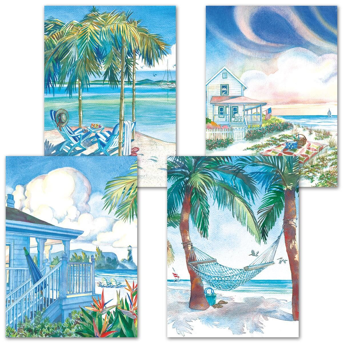 Seaside Serenity Birthday Cards and Seals