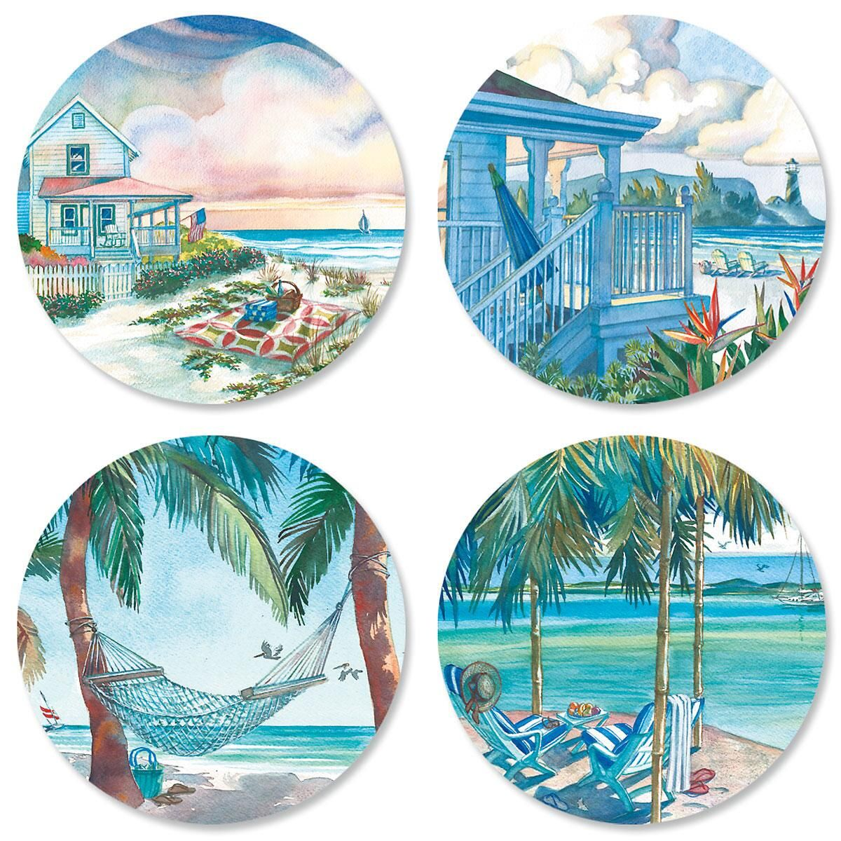 Seaside Serenity Birthday Seals (4 Designs)