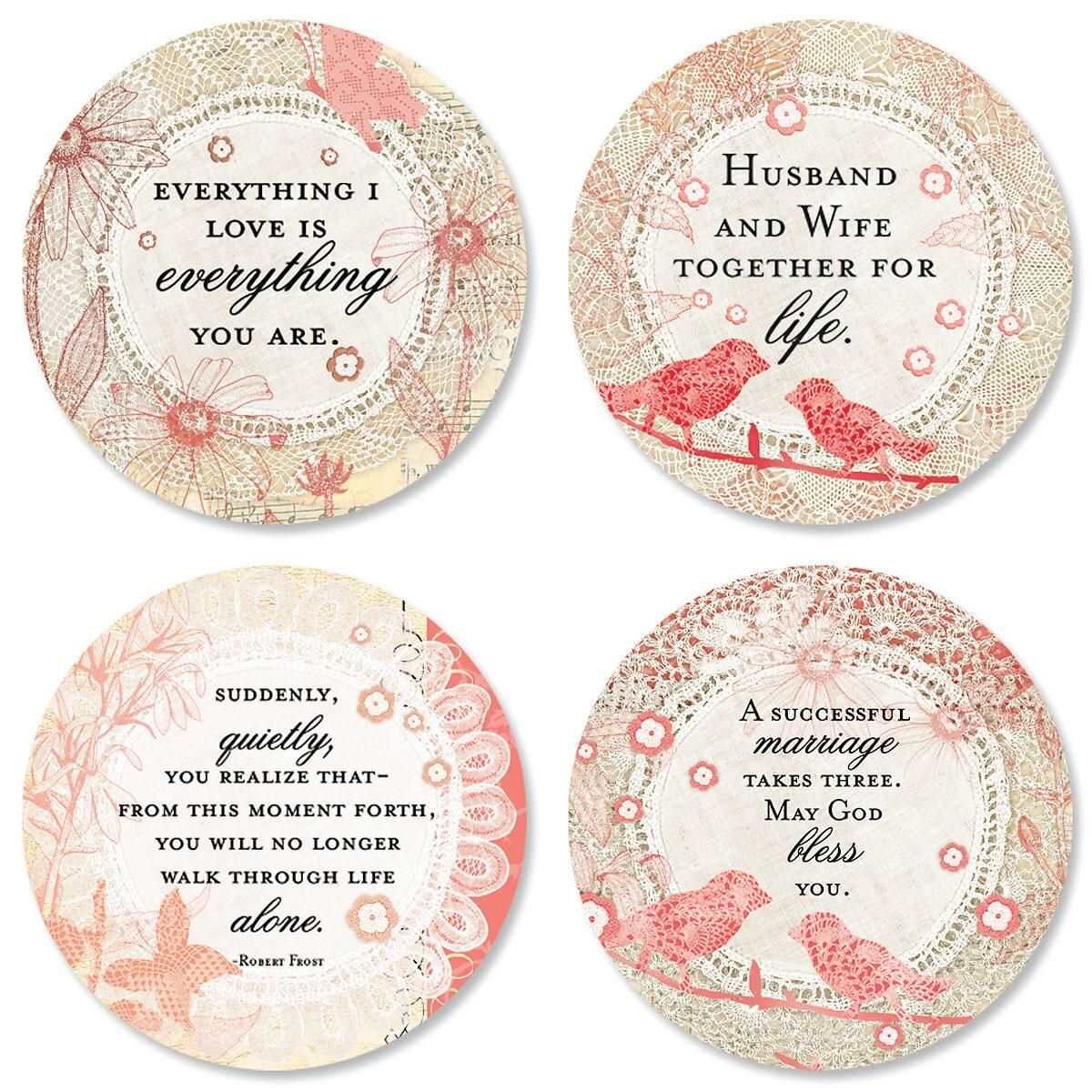 Lace Wishes Anniversary Seals