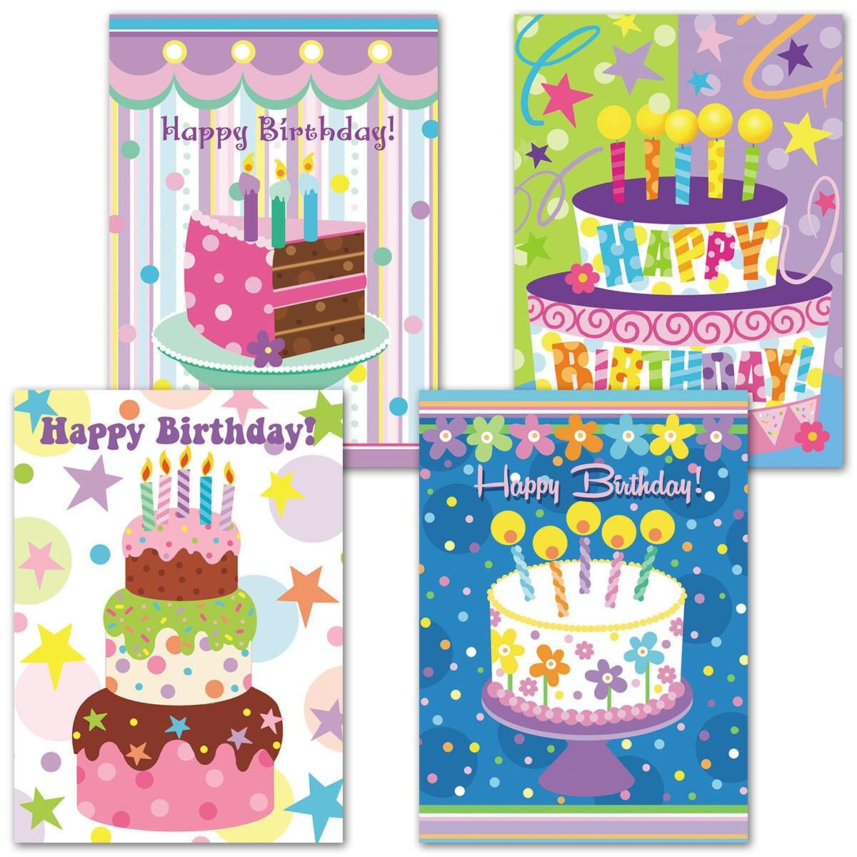Cake Celebration Birthday Cards
