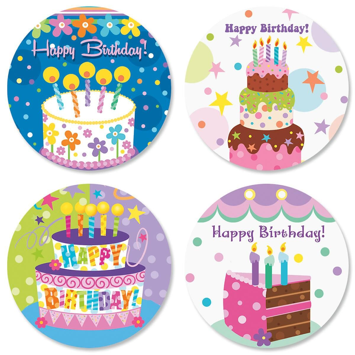 Cake Celebration Birthday Seals