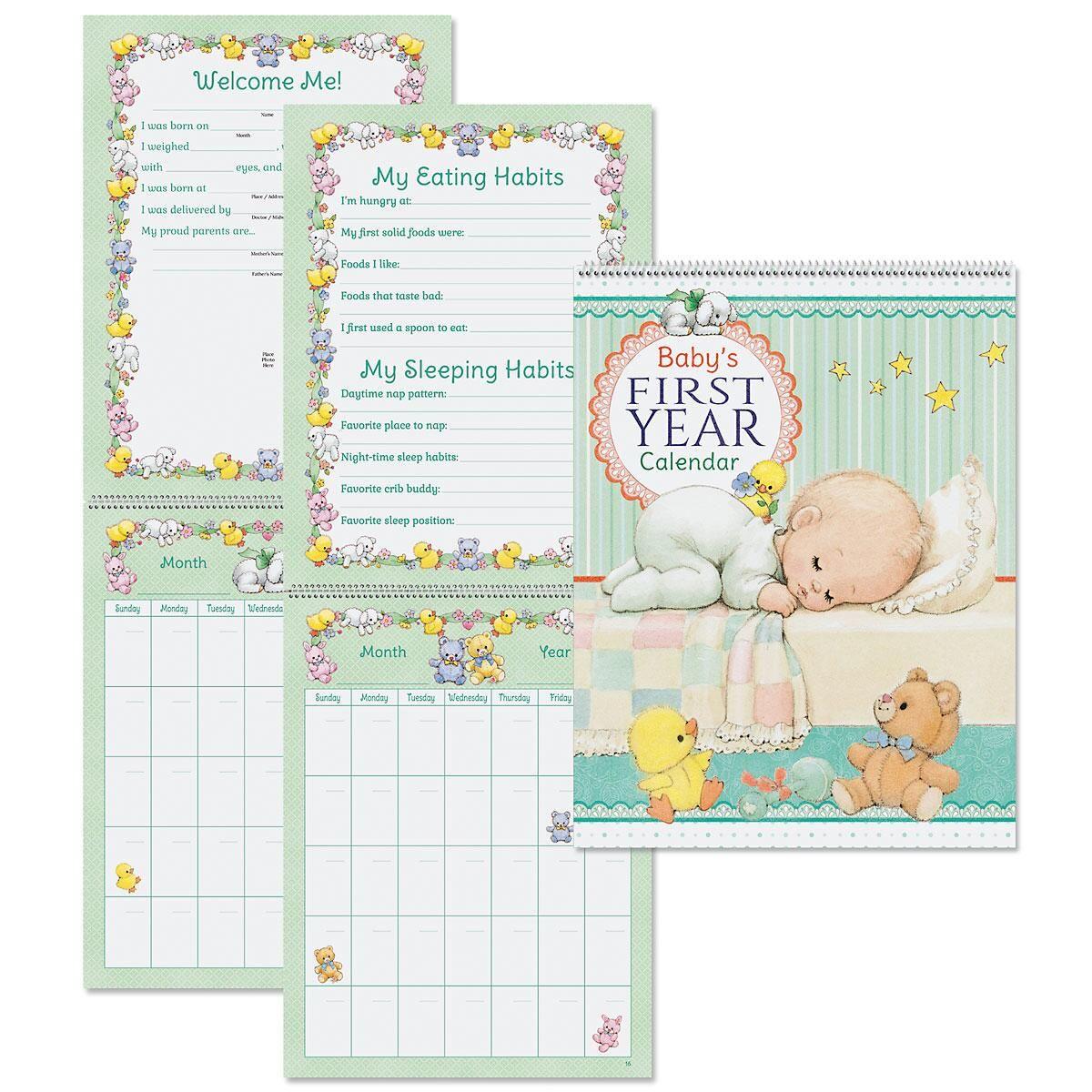 Morehead 1st Year Baby Calendar