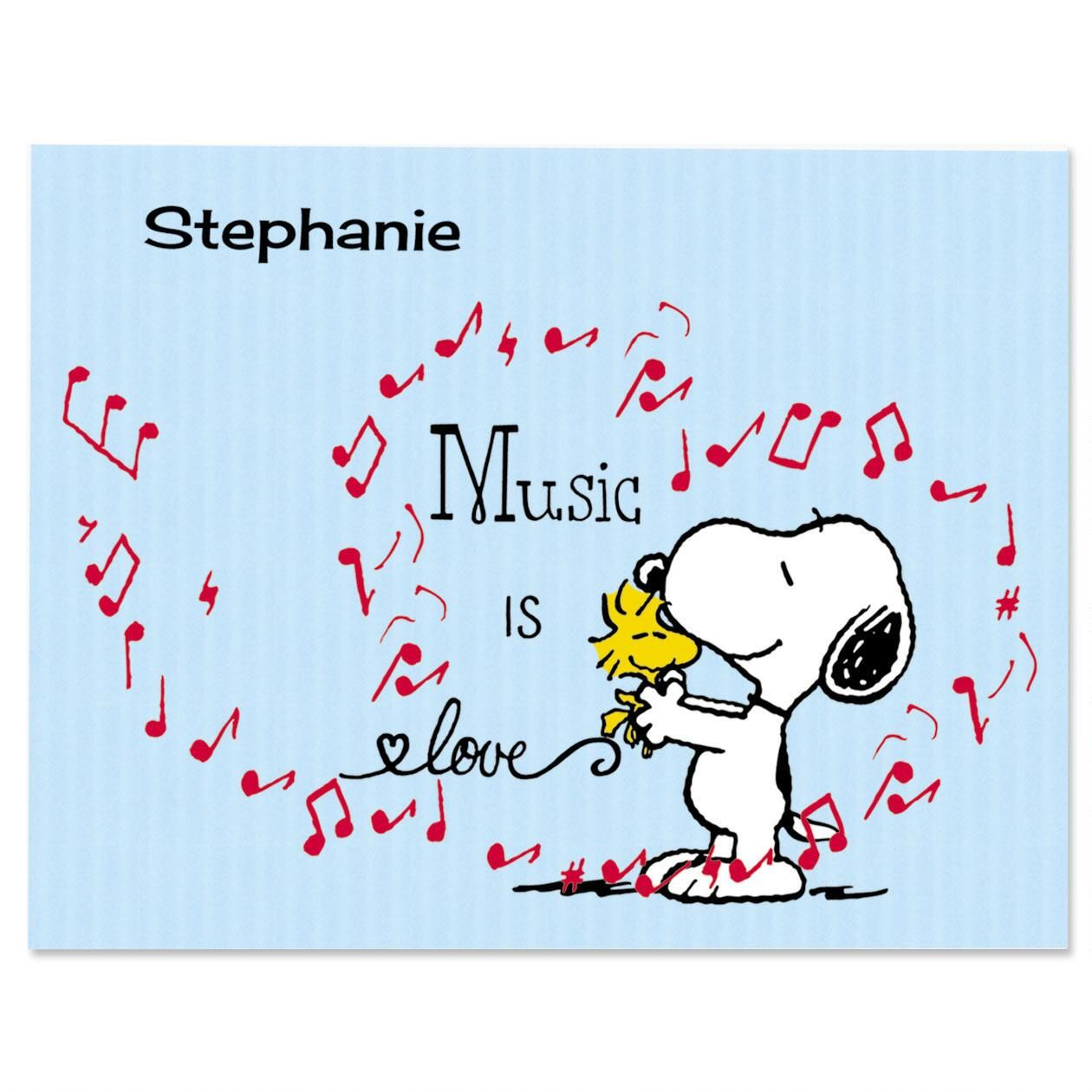 Music Snoopy™ Note Cards