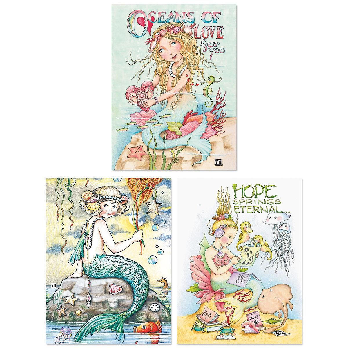 Mary's Mermaids Note Cards