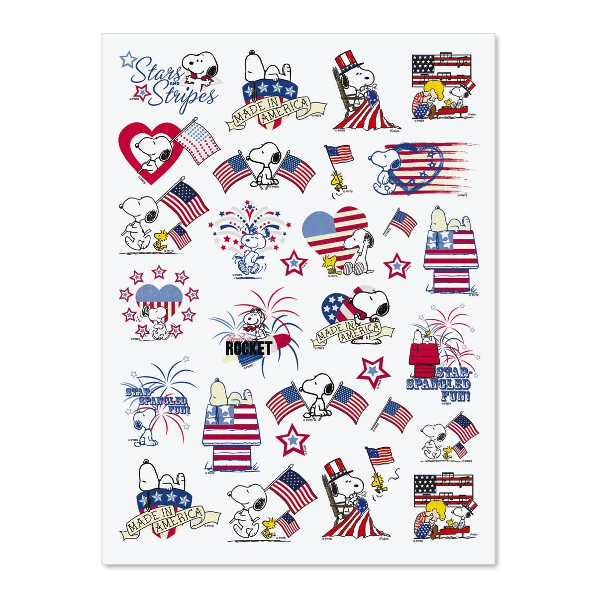 Patriotic Snoopy™ Stickers