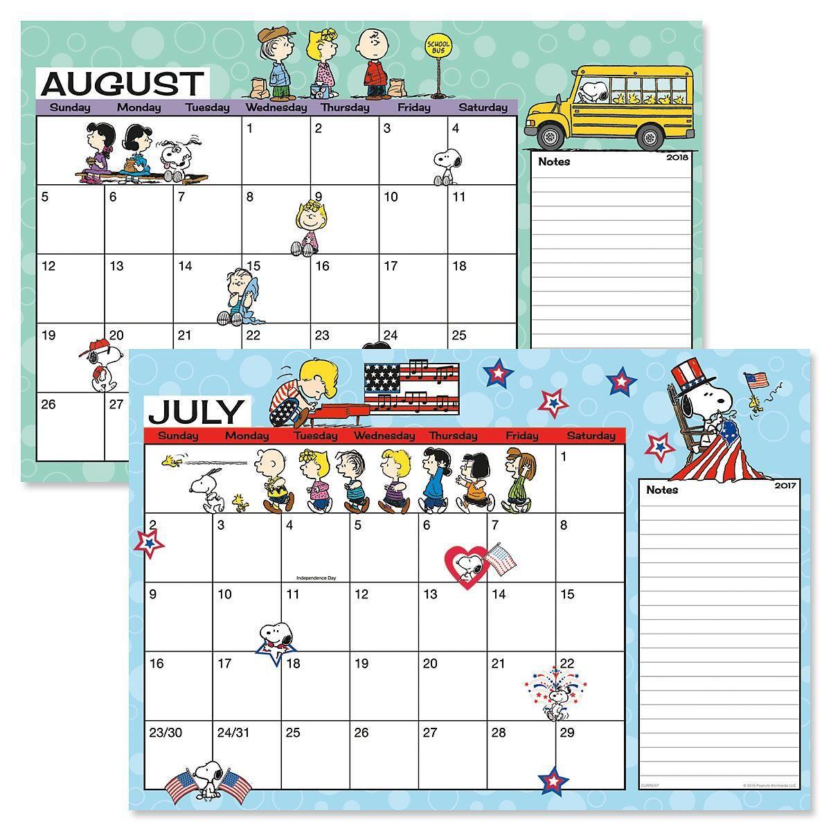 2017-2018 PEANUTS® Calendar Pad