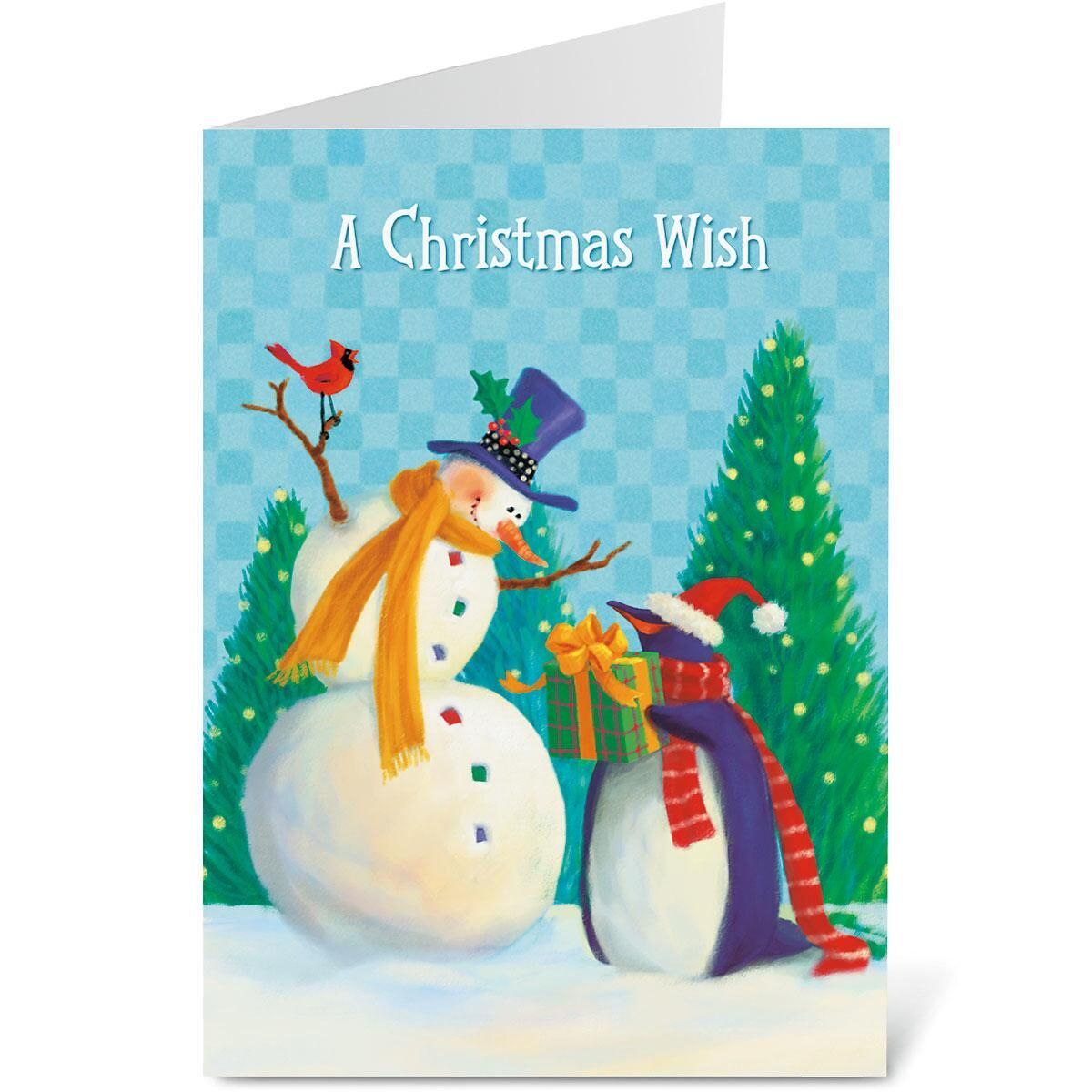 Holiday Friends Nonpersonalized Christmas Cards - Set of 72