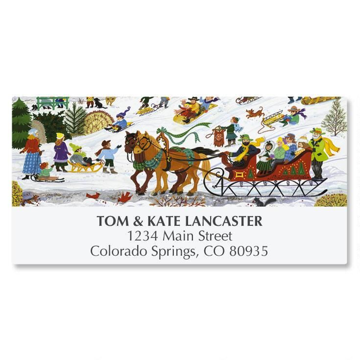 Winter Sports Deluxe Address Labels