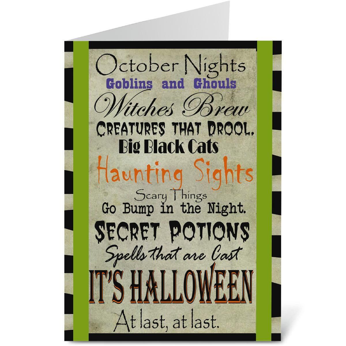 It's Halloween Cards