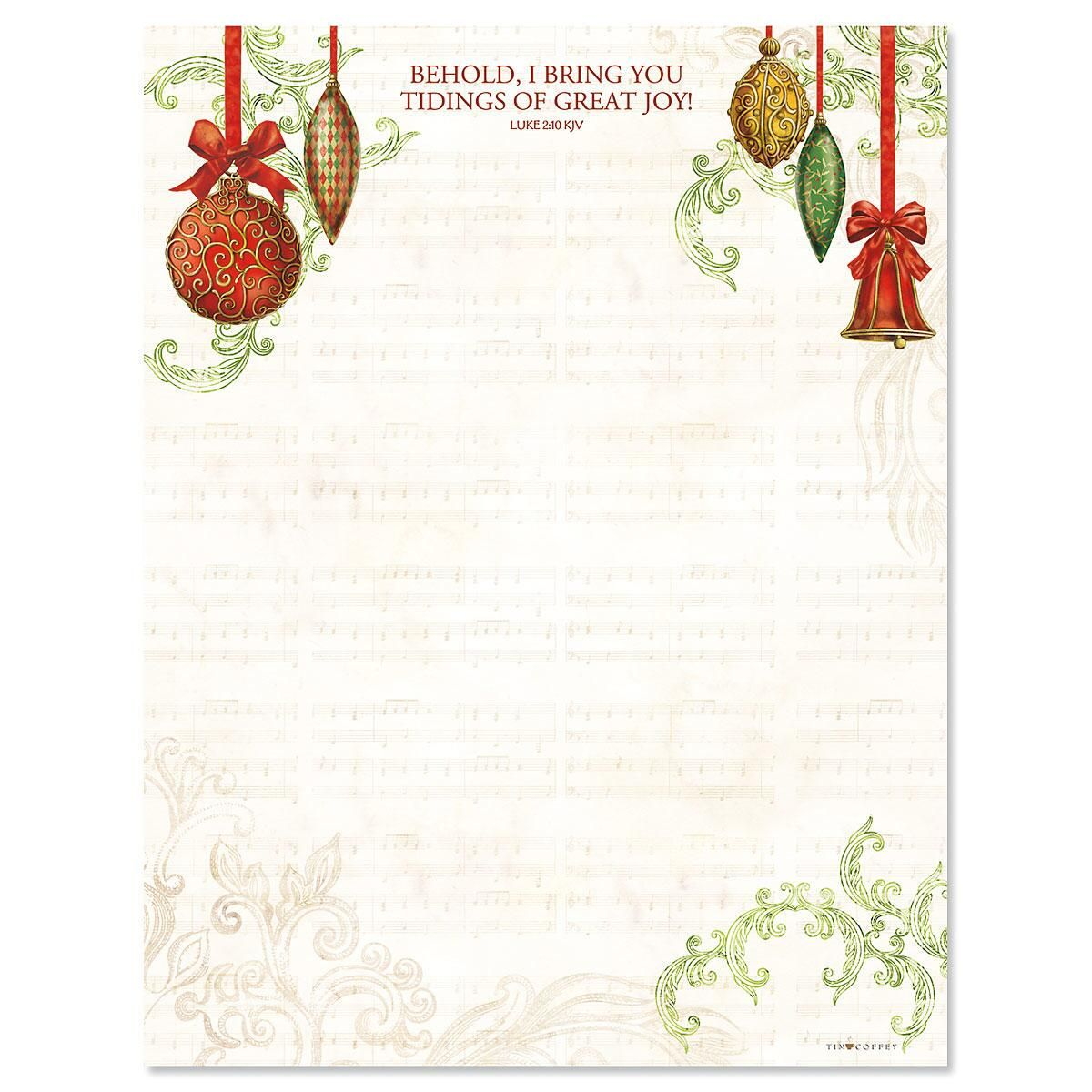 Ornaments Christmas Letter Papers