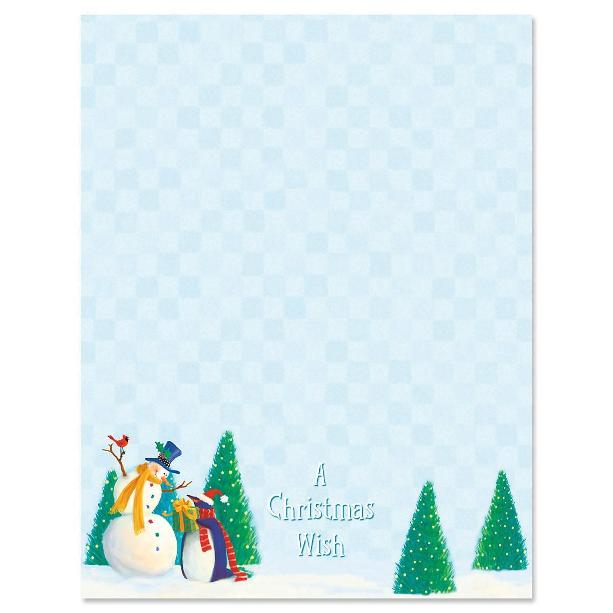 Holiday Friends Christmas Letter Papers